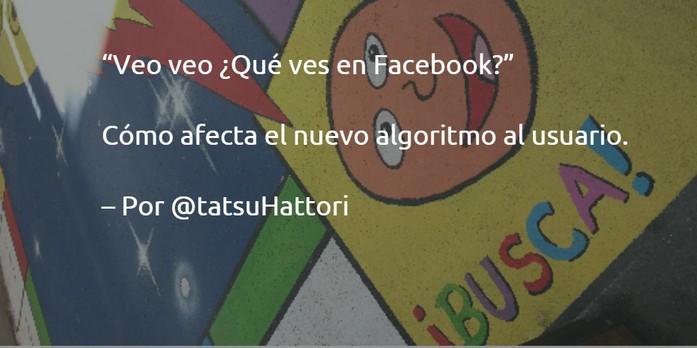 el algortimo de facebook y el usuario