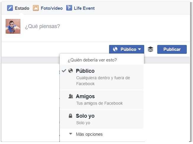 Cómo elegir quien puede ver lo que comparto en facebook