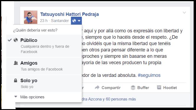 Cómo variar la privacidad de una publicación en Facebook